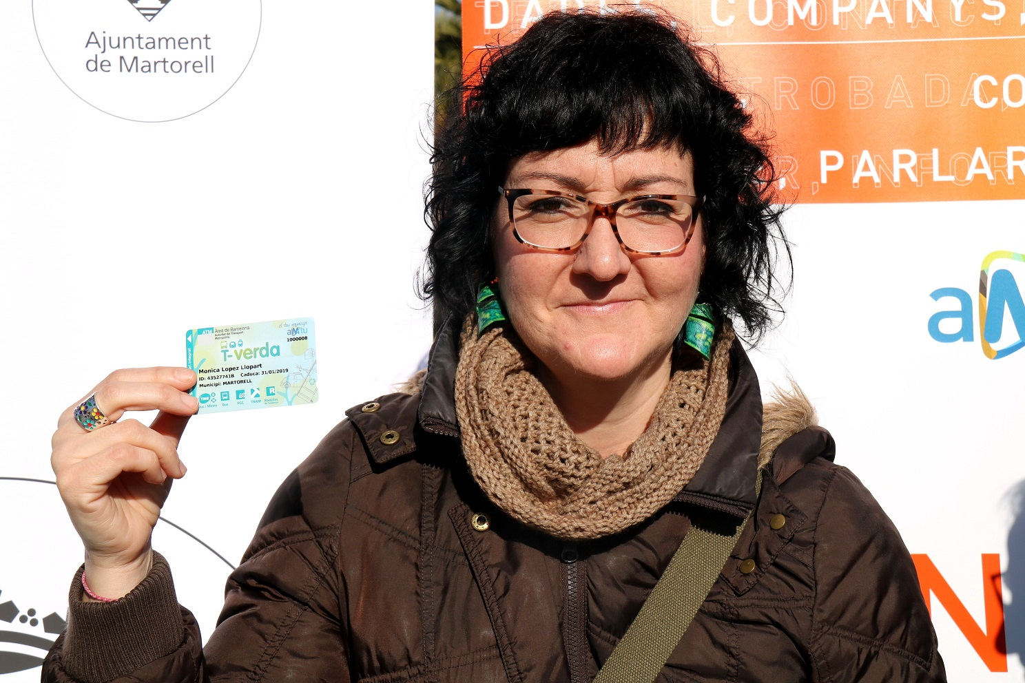 Mònica López és la primera persona del Baix Llobregat que obté la nova T-Verda