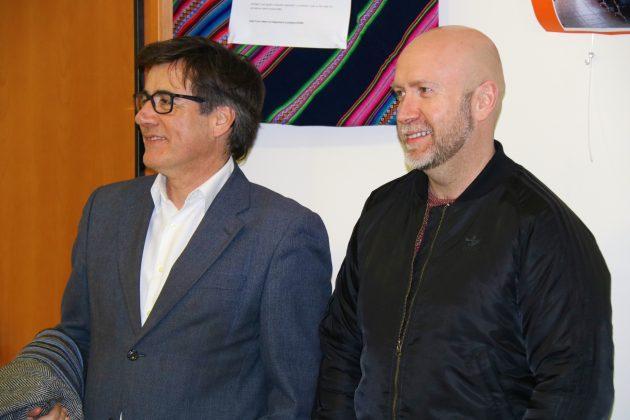 L'alcalde Xavier Fonollosa i el regidor de Cultura, Sergi Corral