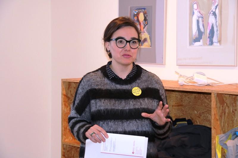 Anna Crosas, responsable Programa d'Arts Visuals de la Diputació