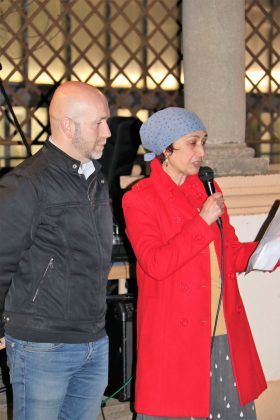 El regidor de Cultura, Sergi Corral i l'autora Rosa Grau