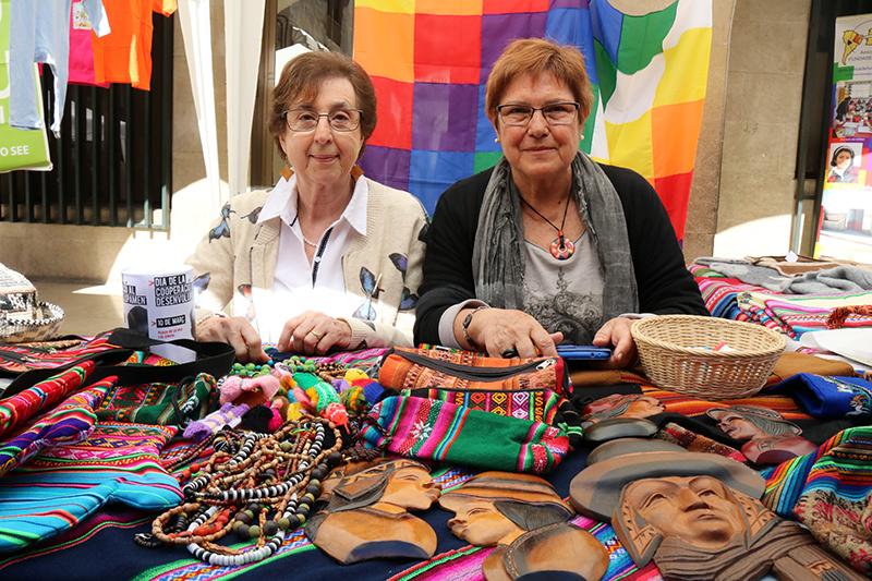 Teresa Casals i Matilde Gil. Dia de la Cooperació al Desenvolupament