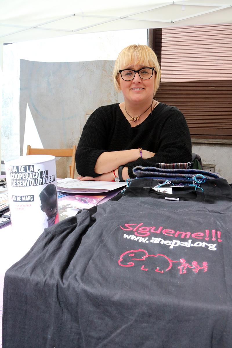 Rosa Corral, coordinadora a Martorell d'Anepal. Dia de la Cooperació al Desenvolupament