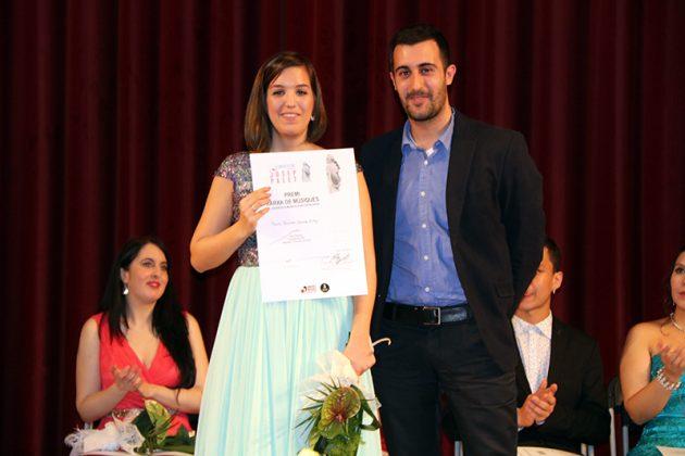 Paula Sánchez-Valverde i el compositor Joan Magrané. Final del 2n Concurs de Cant Josep Palet