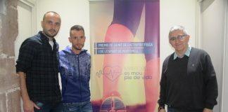 Reunió del jurat dels Premis de la Nit de l'Activitat Física i de l'Esport de Martorell. Raül Llimós. Carles Castillejo i Antoni Real.