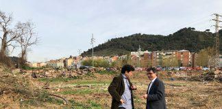 L'alcalde Xavier Fonollosa i el regidor de Medi Ambient, Adolf Bargués