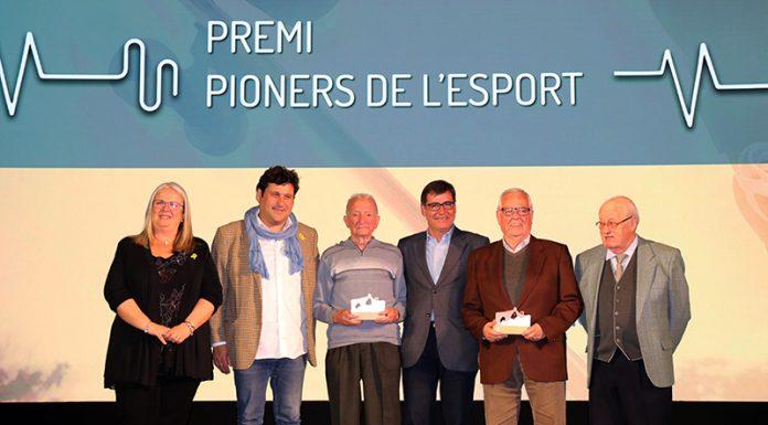 Premi pioners de l'esport a Antonio Folqué Serres i els germans Josep i Francesc Comajuncosas Casasayas