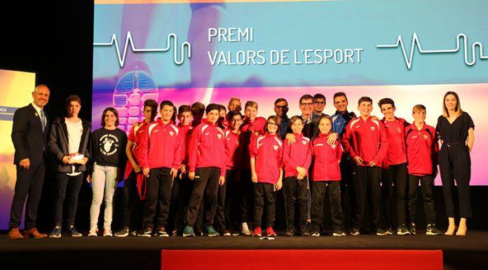 Premi valors de l'esport al Trofeu Massana del Club Natació Martorell i aArnau Fàbregas Yedra (de l'infantil C del Club de Futbol Martorell)