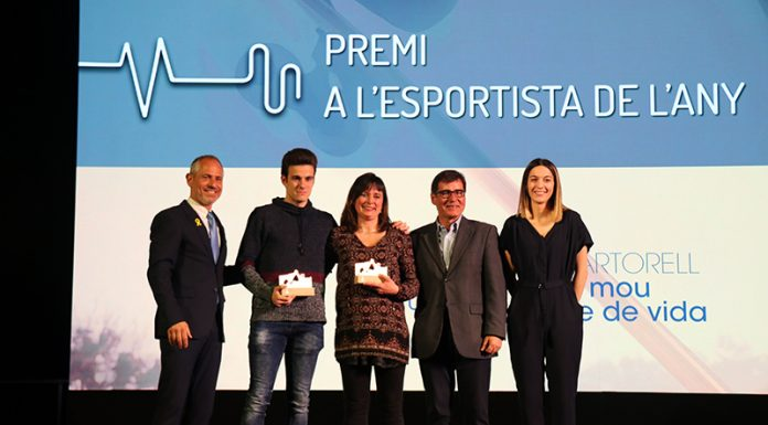 Premi a l'esportista femení de l'any a Lucía Escalante Ortiz i Premi a l'esportista masculí de l'any a Lluís Casanova Adell.