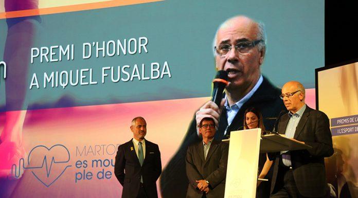 Premi d'honor a Miquel Fusalba, president del Club Bàsquet Martorell