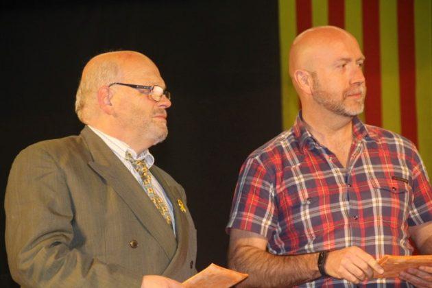 El president de la Secció Sardanista, Màrius Escoda, i el regidor de Cultura, Sergi Corral