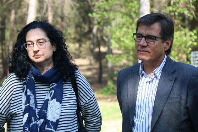 La regidora Míriam Riera i l'alcalde Xavier Fonollosa