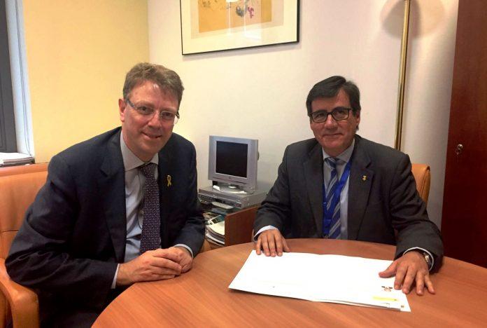 Ferran Bel, diputat del PdCat al Congrés, i Xavier Fonollosa, alcalde de Martorell