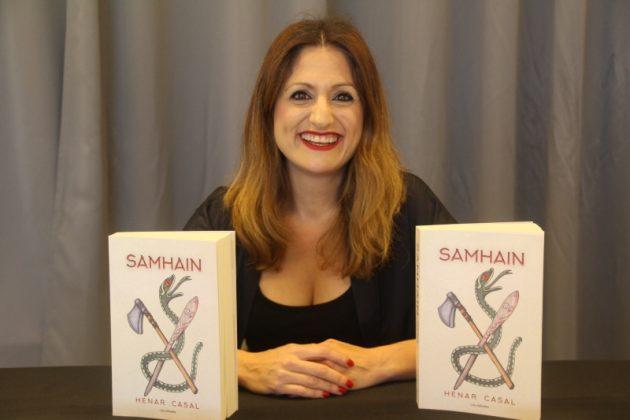 Henar Casal, presentant 'Samhain', la seva primera novel·la