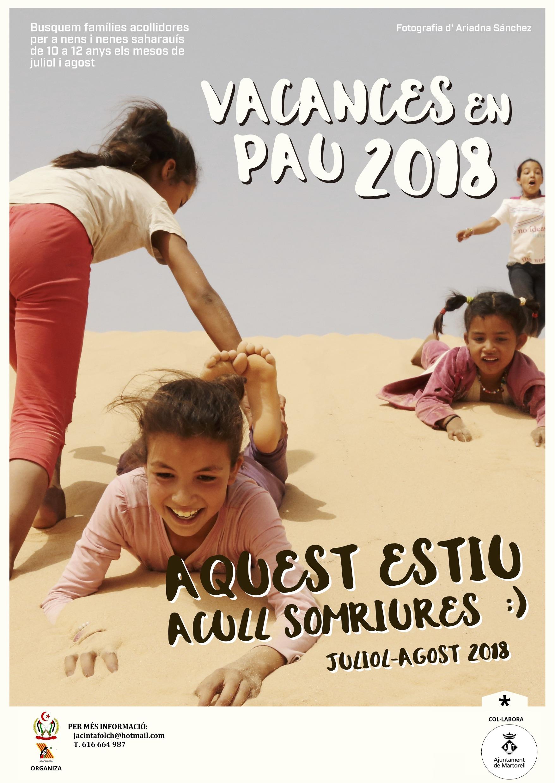 Cartell de Vacances en pau 2018