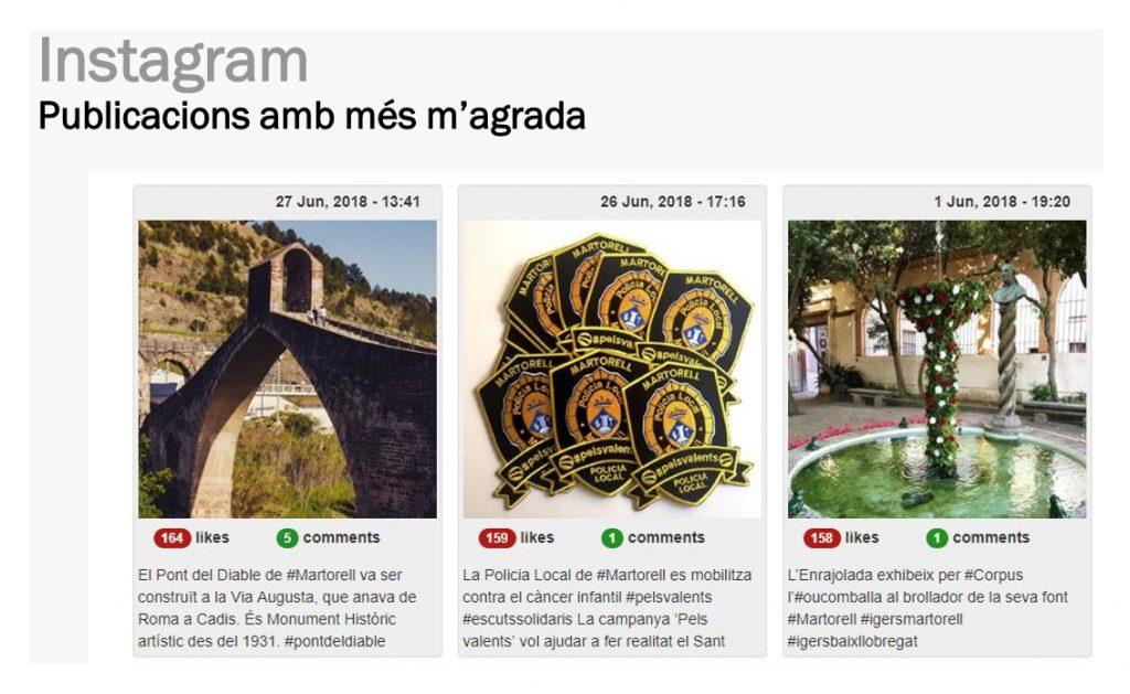 Instagram de l'Ajuntament de Martorell