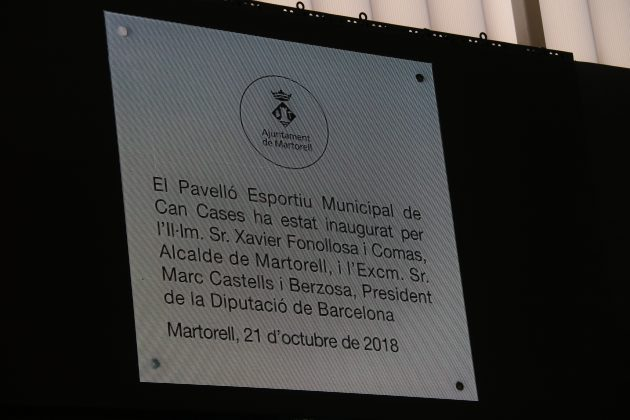 Inauguració Pavelló Can Cases
