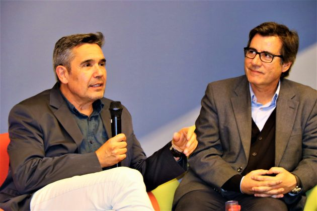 El director Xavier Joseph i l'alcalde Xavier Fonollosa