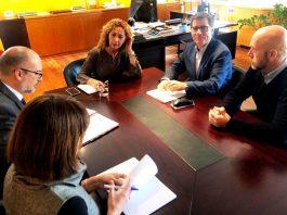 Reunió amb la consellera de Justícia, Ester Capella