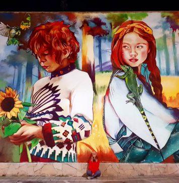 Mural Lily Brik al carrer de la Unió