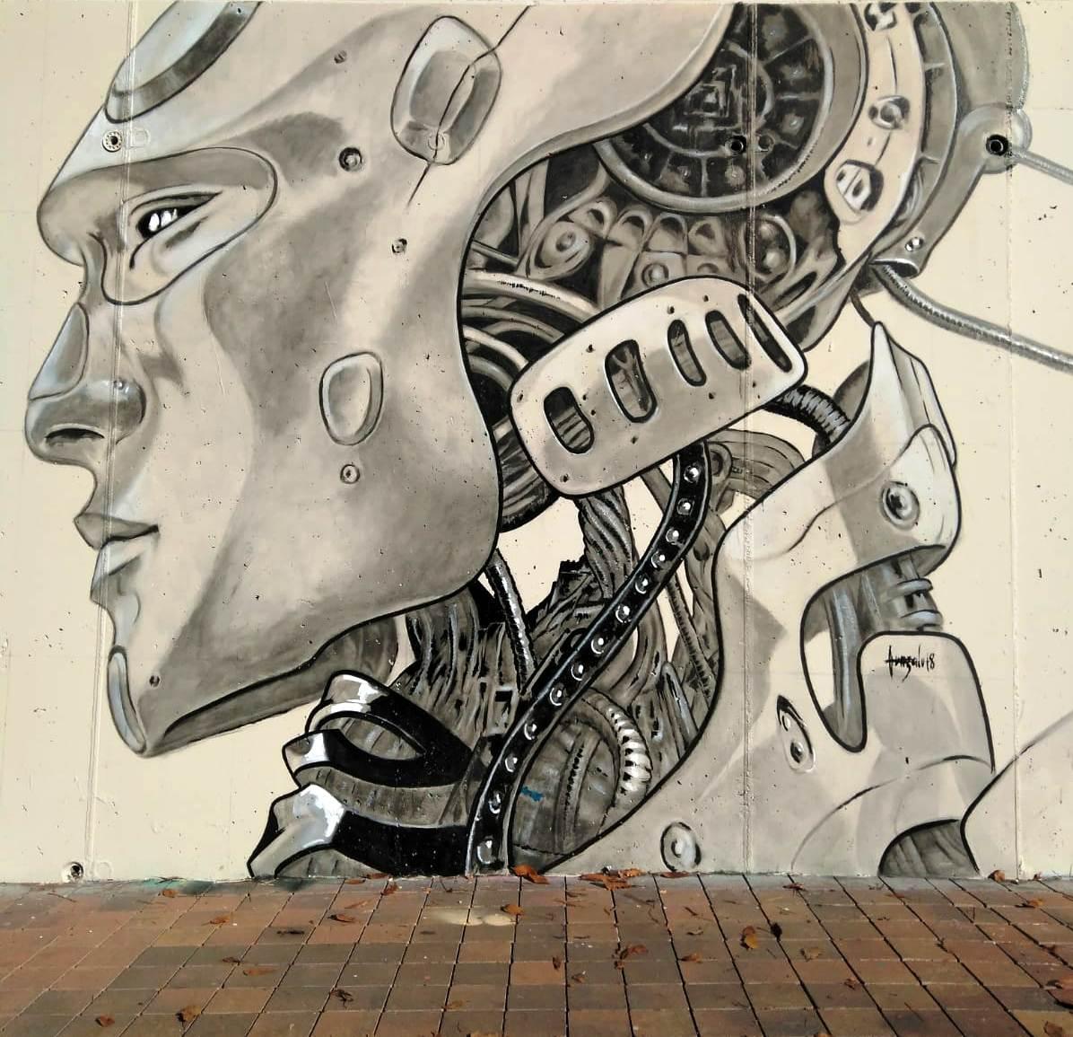 Mural Álex Fernández a l'Skate Park