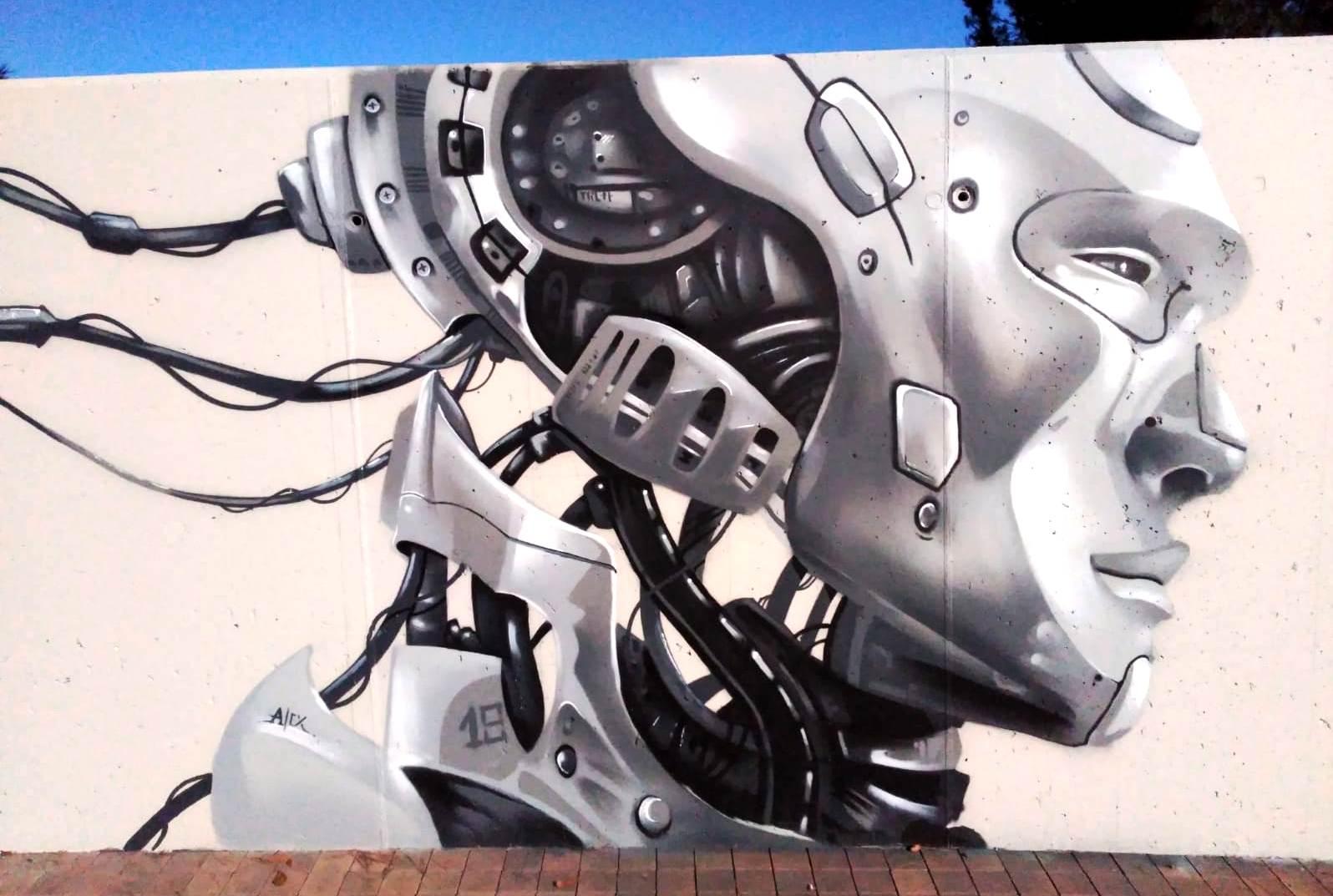 Mural Gonzalo Alonso a l'Skate Park