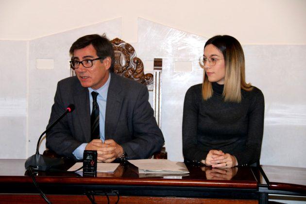 L'alcalde Xavier Fonollosa i la regidora Belén Leiva