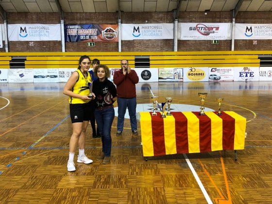 Carla Moreno (Bàsquet Almeda) MVP del torneig