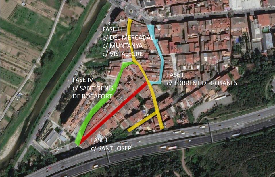 Fases d'obres de millora al barri de Rosanes