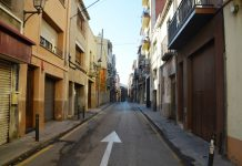Obres al carrer de Sant Josep