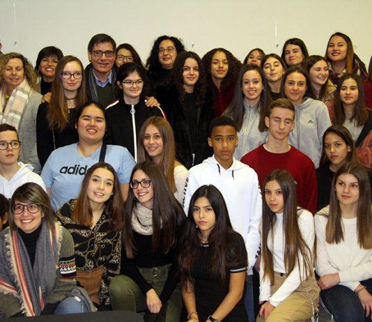 Recepció als alumnes de Chevilly-Larue