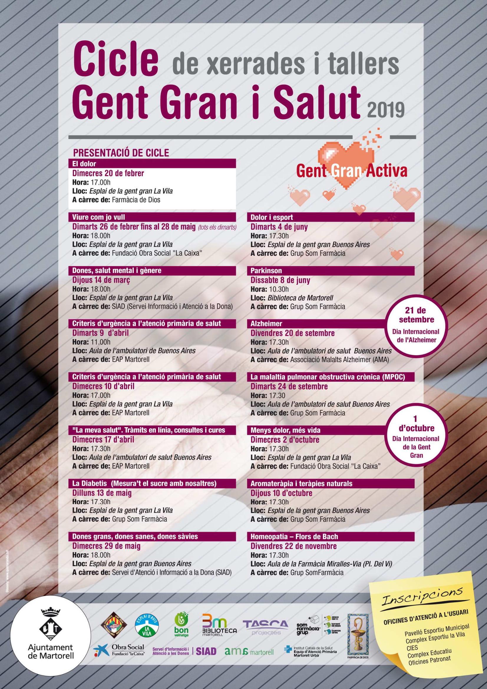 Cicle Gent Gran i Salut 2019