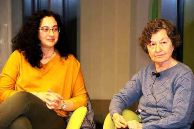 La regidora Míriam Riera i l'escriptora Maria Barbal