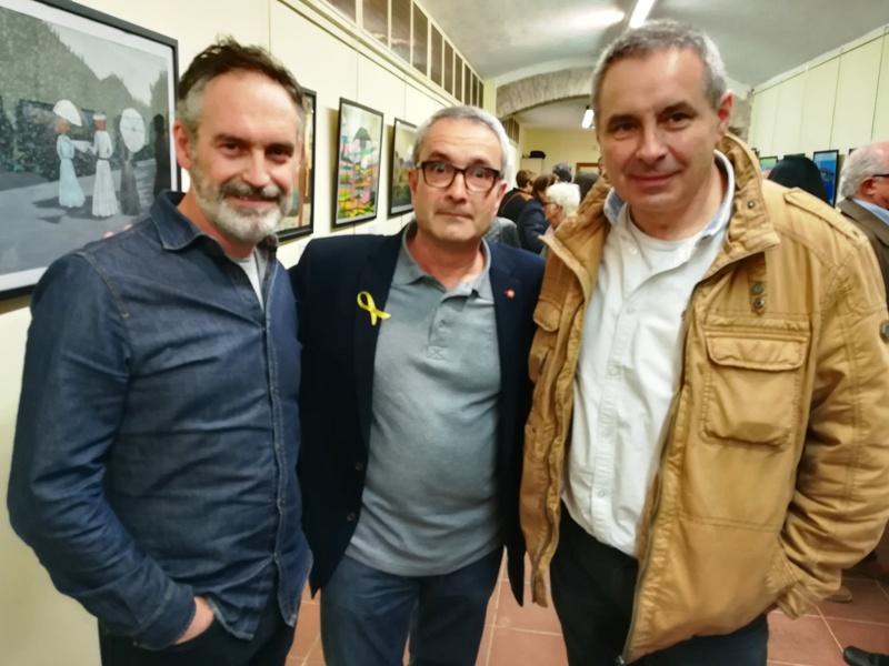 Inauguració exposició 'Com l'art floreix de l'adversitat'. Carles Peña, Pere Mas i Carles de Montserrat