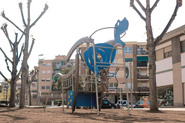 Jocs temàtics al passeig de Catalunya. Foto: Míriam Moreno