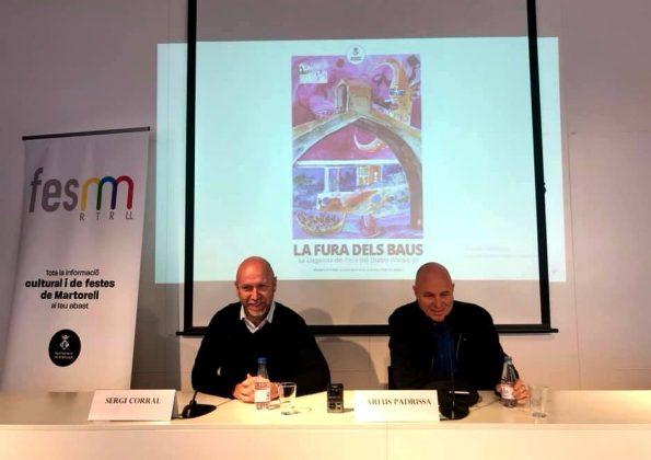 Sergi Corral, regidor de Cultura, i Carlus Padrissa, director Fura dels Baus