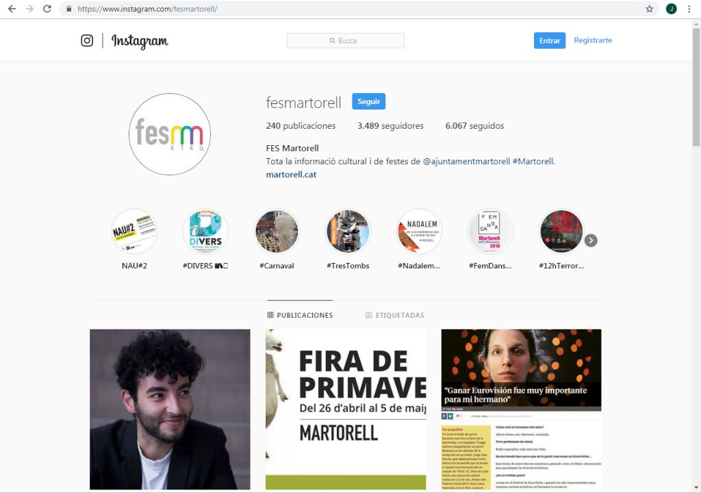 FES Martorell a Instagram