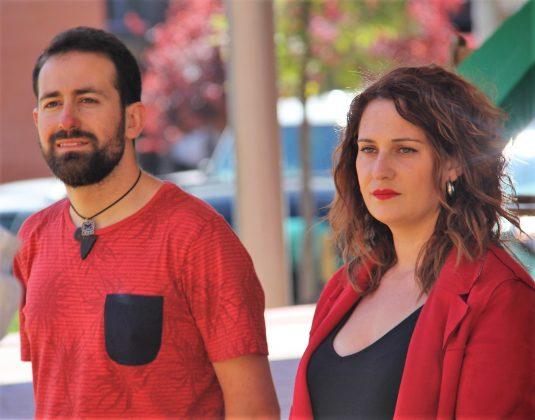Xavier Sáez de Cortázar, número 1, i Laura Ruiz, número 2 Movem Martorell