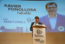 Acte electoral de Junts per Martorell. Xavier Fonollosa