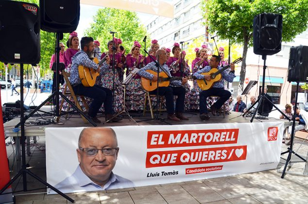 Acte electoral del PSC. Coro Rociero de Terrassa