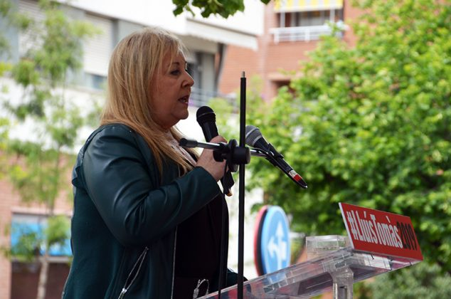 Acte electoral del PSC. Manoli Franco