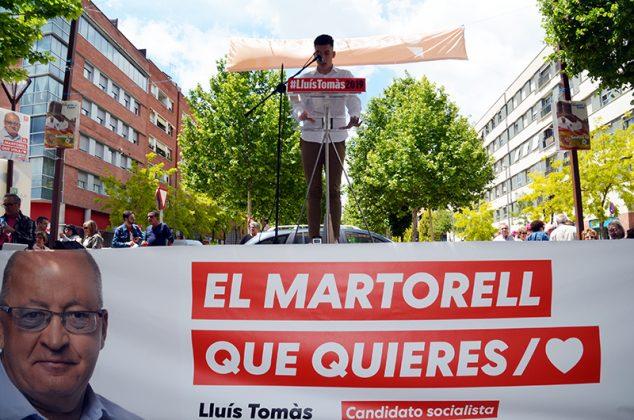 Acte electoral del PSC. Álex Delicado