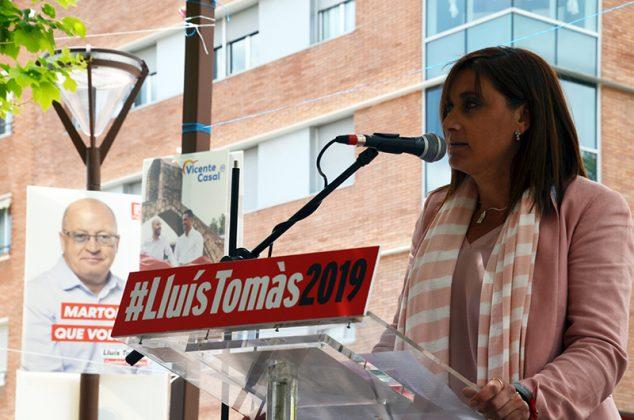 Acte electoral del PSC. Remedios Márquez