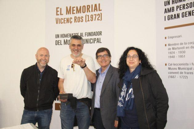 Memorial Vicenç Ros. Lliurament de claus a Josep Cetó