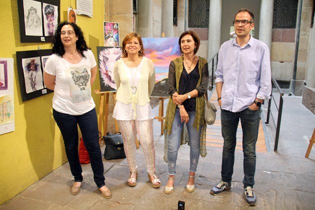 Exposició de final de curs de l'Aula d'Art. Riera, Canal, Bueno i Fernández