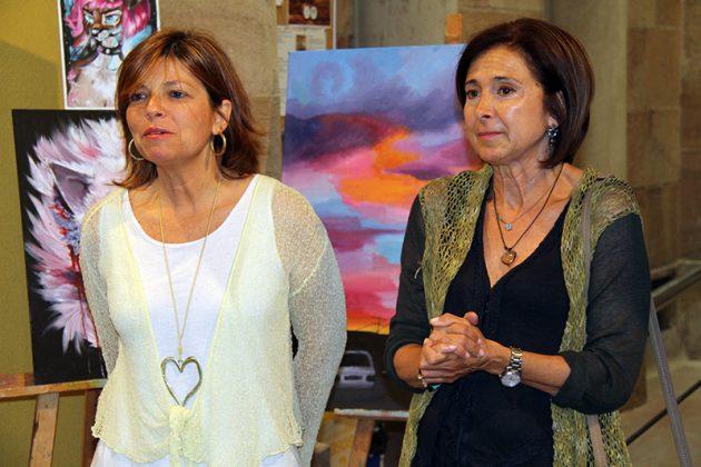 Exposició de final de curs de l'Aula d'Art. Núria Canal i Carme Bueno