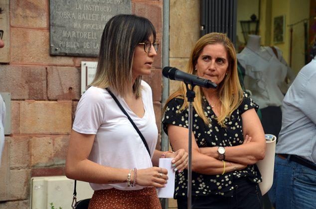 Concentració de suport a les víctimes de la violència masclista