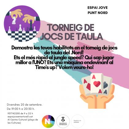Activitats Espai Jove. Nord. Setembre 2019