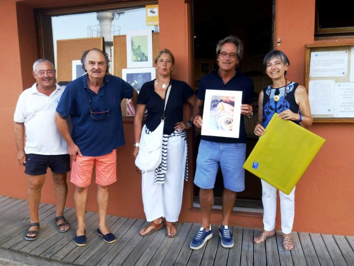 Josep Maria Palou al concurs de fotografia del Club Nàutic d'Aiguablava