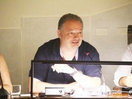 Lluís Esteve, en el seu parlament de comiat com a regidor