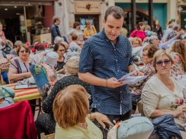 El regidor de Cultura, Andreu González, a la Trobada de Puntaires